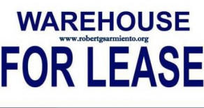 WAREHOUSE FOR LEASE – October 2015