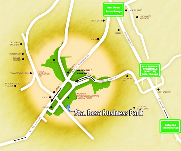 sta rosa business park greenfield city Greenfield city is accessible from the south luzon express way (slex) via the following: • greenfield-unilab (mamplasan) interchange • sta rosa interchange • eton-greenfield interchange the city was masterplanned by san francisco based edaw inc.